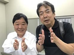 上島竜兵と演出を務める平野眞監督 - 写真はフジテレビ提供