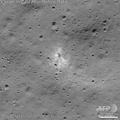 インドの月面探査機チャンドラヤーン2号の着陸船ビクラムが衝突した月面地点。米航空宇宙局提供、撮影日不明。(c)AFP PHOTO /NASA