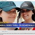 絶叫マシンで思わぬ体験をした少女(画像は『6abc Action News 2021年7月22日付「Seagull hits teen in face while on SpringShot ride in Wildwood, NJ」』のスクリーンショット)