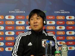 エクアドル戦を翌日に控えた日本代表。森保監督は会見で選手起用に関して答えた。(C)SOCCER DIGEST