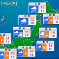 全国的に冬到来 14日は太平洋側で木枯らし、東北では積雪のおそれ