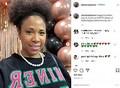 12歳でリンパ浮腫と診断された女性(画像は『Monique 2021年1月16日付Instagram「Happy Founders' Day to my oh so PRETTY Sorors of Alpha Kappa Alpha Sorority」』のスクリーンショット)