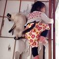 猫ちゃんのしっぽが優しい...(さきさんのツイートより)