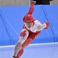 女子500メートルで優勝した小平奈緒=20日、YSアリーナ八戸(代表撮影)