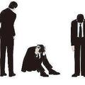 ビジネスマンの様々な姿勢と動き