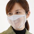 半透明素材で口元が見える「透明マスク」 笑顔は見える…?