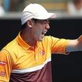 全豪オープン1回戦で苦戦を強いられた錦織【写真:Getty Images】
