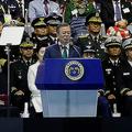 文在寅大統領が国軍の日の式典で表明 韓国軍戦闘機が竹島周辺を飛行
