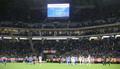 <日本・ベネズエラ>4対1とベネズエラに親善試合ながら完敗し、ブーイングを浴びる日本代表イレブン(撮影・椎名 航)