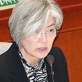 発言する康長官=8日、ソウル(聯合ニュース)