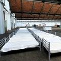 ベルギーの首都ブリュッセルで、新型コロナウイルスへの感染が疑われるホームレスを収容する国際医療支援団体「国境なき医師団(MSF)」の施設(2020年3月30日撮影、資料写真)。(c)Didier LEBRUN / BELGA / AFP
