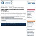 CISAと米国防総省サイバー国家任務部隊、SolarWinds関連マルウェアを分析