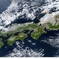 気象衛星14日午前11時・なだれ注意報発表地域 「出典:気象庁ホームページ」