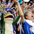 コロンビア戦を応援する一平くん【写真:Getty Images】