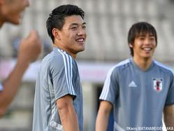 初のアジアカップに臨むMF堂安律