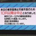 東京競馬場で天候が急変 大粒のひょうが叩きつけ10R以降中止