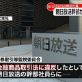 朝日放送幹部 インサイダー取引