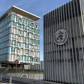 スイス・ジュネーブの世界保健機関(WHO)=下司佳代子撮影