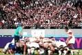 ラグビーW杯でも客席ごみ拾いの輪が広がった【写真:Getty Images】