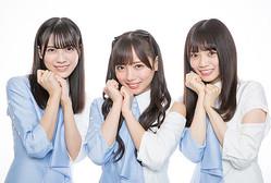 日向坂46の「アザトカワイイ」3人、(左から)森本茉莉、齊藤京子、宮田愛萌