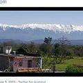 パンジャブ州パタンコートで撮影されたヒマラヤのダウラダー山脈(画像は『Abbu Pandit 2020年4月3日付Twitter「The same mountains from my home」』のスクリーンショット)