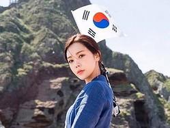 K-POPの美人アイドルが独島に上陸写真で話題。「私は旅券なしで行き来できる」