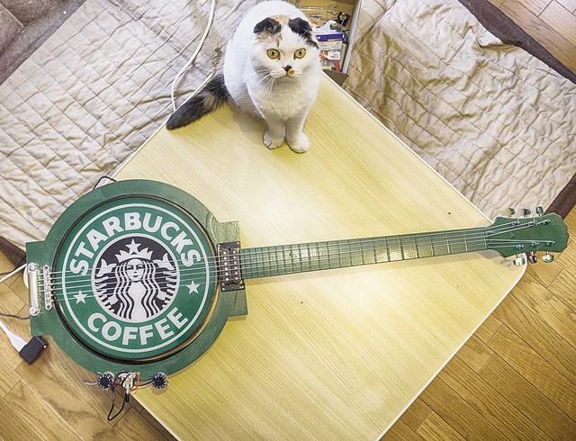めちゃくちゃオシャレ!趣味のギター作りチャンネルで見せた「スタバのギター」がかっこいい