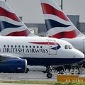 英ロンドンのヒースロー空港に駐機する航空大手ブリティッシュ・エアウェイズの旅客機(2019年5月3日撮影)。(c)BEN STANSALL / AFP