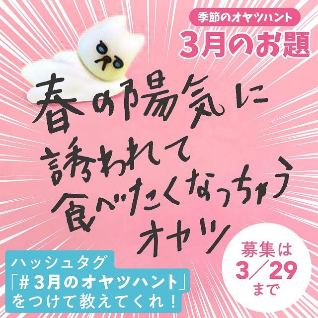 「#3月のオヤツハント」ツイートで、10名様にお菓子詰め合わせプレゼント!