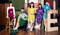 たこやきレインボーが5人そろって卒業を発表(左から)彩木咲良、根岸可蓮、清井咲希、堀くるみ、春名真依