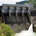 西日本豪雨の際に緊急放流した鹿野川ダム=愛媛県大洲市