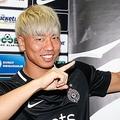 新天地デビュー戦で初ゴールを決めたFW浅野拓磨