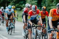 自転車ロードレース、ツール・ド・ポローニュ第1ステージに臨むドゥクーニンク・クイックステップのファビオ・ヤコブセン(2020年8月5日撮影)。(c)Szymon Gruchalski / Forum / AFP