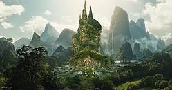 映画『マレフィセント2』コンセプトアート:オーロラ城