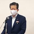 記者団の取材に答える公明党の山口那津男代表