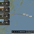 台風19号 ハワイ行きに謎のJAL便