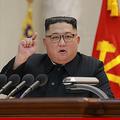 8日、人民武力省で演説した金正恩氏(2019年2月9日付朝鮮中央通信)