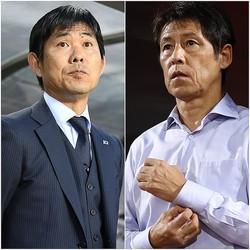地元の熱狂的な声援を受けて戦う開催国タイ。U-23代表の監督でもある西野氏(右)と森保監督(左)の対決がいよいよ実現か。(C)SOCCER DIGEST, Getty Images