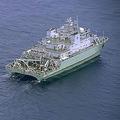 沖ノ鳥島沖の排他的経済水域を航行する中国の海洋調査船(第3管区海上保安本部提供/時事通信フォト)
