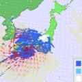 10日朝の雨と風の予想