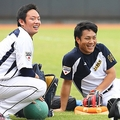 松井裕樹(左)と則本昂大(写真:Koji Watanabe - SAMURAI JAPAN/Getty Images)