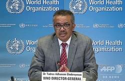 世界保健機関のテドロス・アダノム・ゲブレイェスス事務局長(2020年3月30日撮影)。(c)AFP