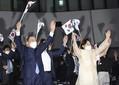 8月15日の式典で文在寅大統領夫妻
