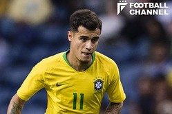 ブラジル代表のフィリッペ・コウチーニョ【写真:Getty Images】