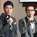 おぎやはぎの小木博明(左)と矢作兼(2017年9月24日撮影)
