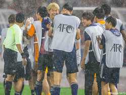 U-20W杯出場決定を喜ぶMF郷家友太(神戸)