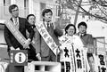(写真)訴えるる(左から)宮本、森本、金田、大野、大前の各氏=3日、神戸市中央区