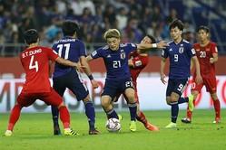アジアカップ準々決勝でベトナムを1-0で破った日本【写真:AP】