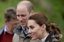 英ウィリアム王子と妻のキャサリン妃(2019年6月11日撮影、資料写真)。(c)Owen Humphreys / POOL / AFP
