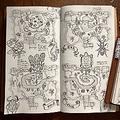 """手描き""""あつ森""""のノート。画像は、れどもんどさん(@Redmond_MMM)のTwitterより。以下同"""
